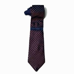 Tommy Hilfiger 100% Silk Men's Brown & Blue Tie.